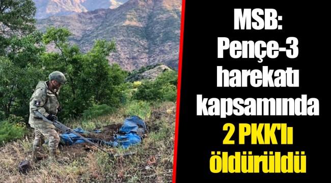 MSB: Pençe-3 harekatı kapsamında 2 PKK'lı öldürüldü