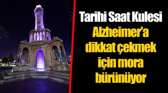 Tarihi Saat Kulesi Alzheimer'a dikkat çekmek için mora bürünüyor