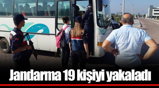 Jandarma 19 kişiyi yakaladı
