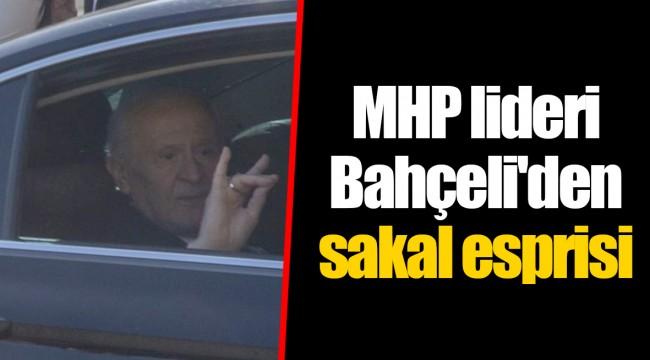 MHP lideri Bahçeli'den sakal esprisi