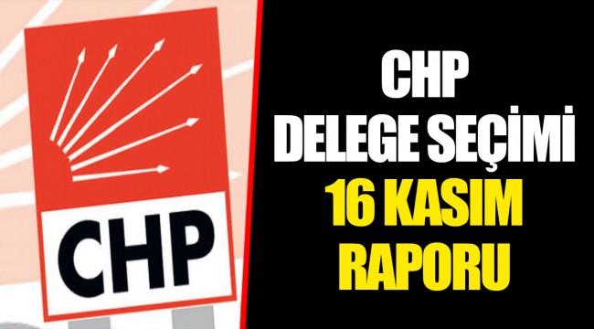 CHP DELEGE SEÇİMİ 16 KASIM RAPORU