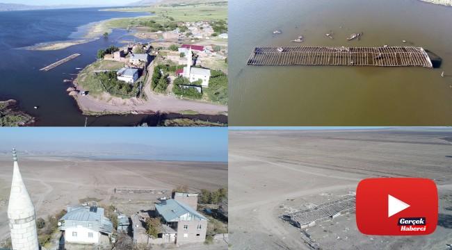Murat Nehrinde su çekildi, 6 ay önceki görüntüden eser kalmadı