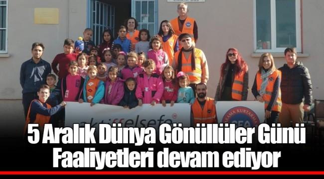 5 Aralık Dünya Gönüllüler Günü Faaliyetleri devam ediyor