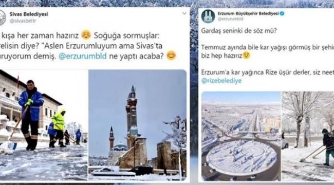 İl belediyelerinin kar ve soğuk hava 'atışması' gülümsetti