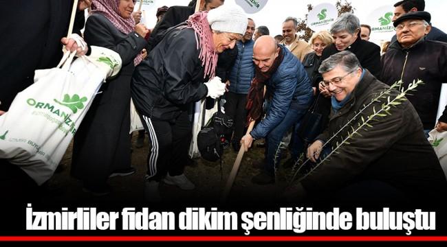 İzmirliler fidan dikim şenliğinde buluştu