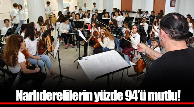 Narlıderelilerin yüzde 94'ü mutlu!