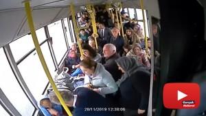 Otobüs şoföründen hayat kurtaran müdahale