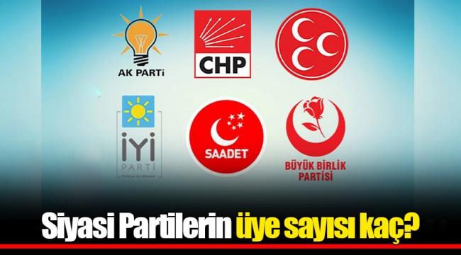 Siyasi Partilerin üye sayısı kaç?