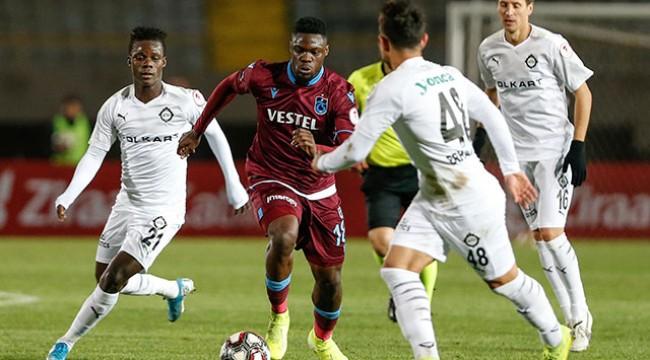 Trabzonspor avantajı kaptı