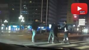 Başkentte 'yarış' kavgası kamerada
