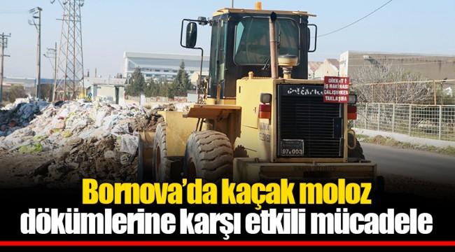 Bornova'da kaçak moloz  dökümlerine karşı etkili mücadele