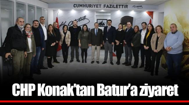 CHP Konak'tan Batur'a ziyaret