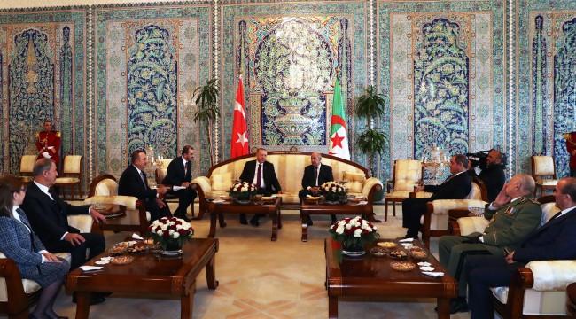 Cumhurbaşkanı Erdoğan, Cezayir Cumhurbaşkanı Tebbun ile görüştü