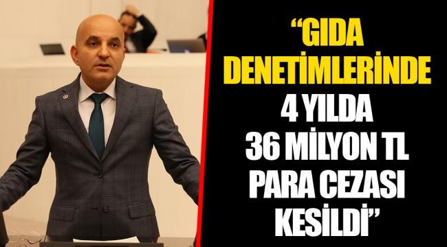 """""""GIDA DENETİMLERİNDE 4 YILDA 36 MİLYON TL PARA CEZASI KESİLDİ"""""""
