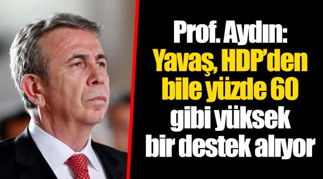 Prof. Aydın: Yavaş, HDP'den bile yüzde 60 gibi yüksek bir destek alıyor