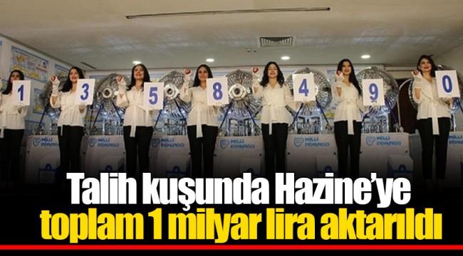 Talih kuşunda Hazine'ye toplam 1 milyar lira aktarıldı