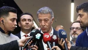 Trabzonspor Başkanı Ahmet Ağaoğlu: ''Ali Koç'a 14:61'de cevap vereceğiz''