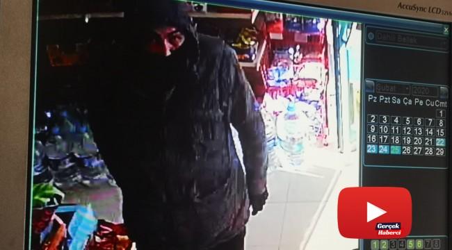 Bıçaklı gaspçı market kasasını boşalttı