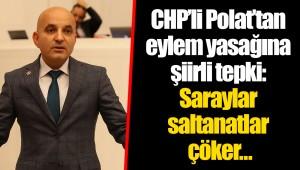 CHP'li Polat'tan eylem yasağına şiirli tepki: Saraylar saltanatlar çöker…