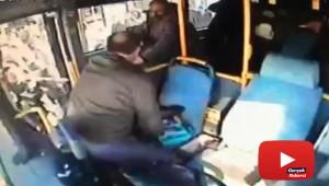 Otobüs şoförüne darp