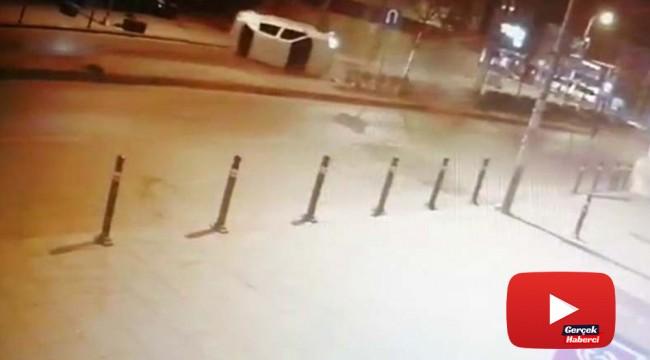 Otomobilin takla attığı kazanın yeni görüntüleri ortaya çıktı