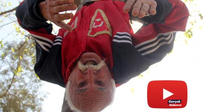 66 yaşındaki İbrahim dededen görülmemiş spor