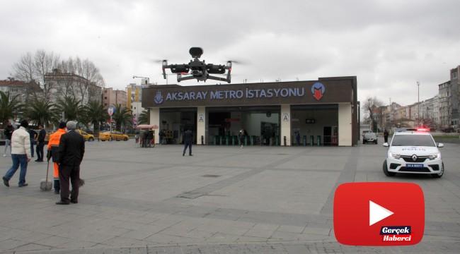 Polisten vatandaşlara drone ile
