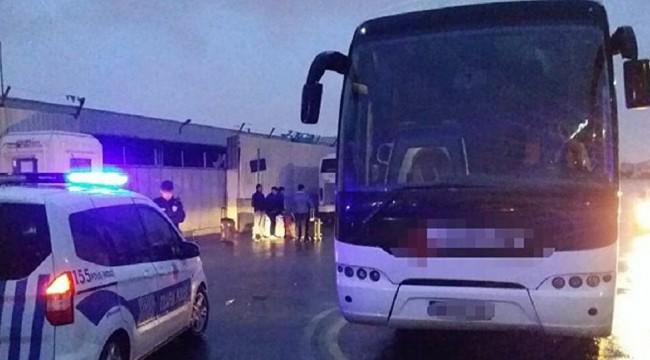 Seyahat kısıtlamasına uymayan otobüsteki 46 yolcu karantinaya alındı