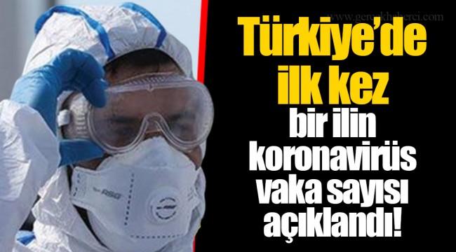 Türkiye'de ilk kez bir ilin koronavirüs vaka sayısı açıklandı!