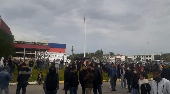 İzmir'de bir fabrika çalışanında korona virüs tespit edildi, iş yerinde arbede çıktı