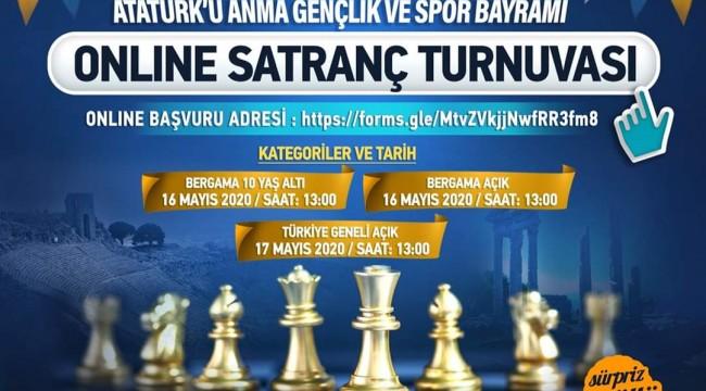 19 Mayıs anısına online satranç turnuvası tamamlandı, heyecan iki saat sürdü