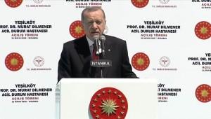 Cumhurbaşkanı Erdoğan: Salgın döneminde hizmete sunduğumuz acil durum hastaneleri örnek alınacak bir model