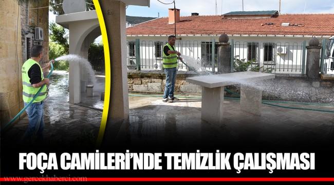 FOÇA CAMİLERİ'NDE TEMİZLİK ÇALIŞMASI