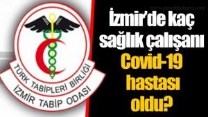 İzmir'de kaç sağlık çalışanı Covid-19 hastası oldu?