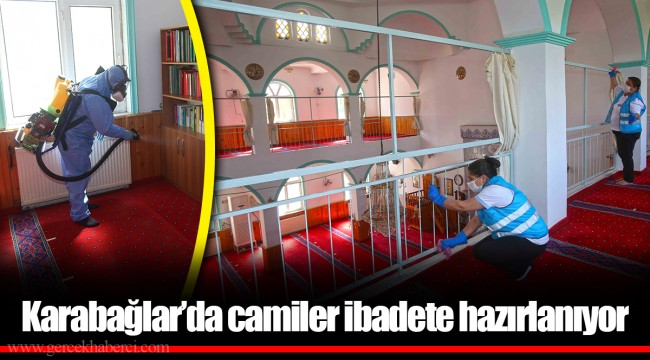 Karabağlar'da camiler ibadete hazırlanıyor