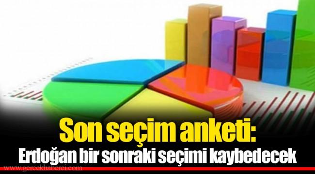 Son seçim anketi: Erdoğan bir sonraki seçimi kaybedecek