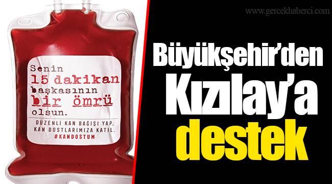 Büyükşehir'den Kızılay'a destek