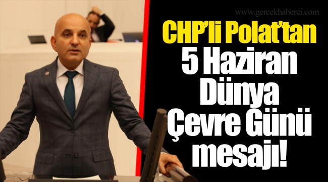 CHP'li Polat'tan 5 Haziran Dünya Çevre Günü mesajı!