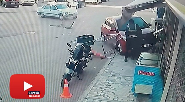 Otomobilin çarpmasından kıl payı kurtuldu