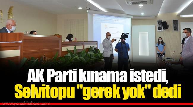AK Parti kınama istedi, Selvitopu