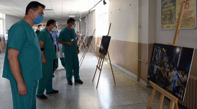 EÜ Hastanesinde 15 Temmuz fotoğraf sergisi