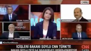 Mehmet Metiner, İçişleri Bakanlığı'na FETÖ'cülerin yerleştirildiğini söyledi, Soylu canlı yayına bağlandı