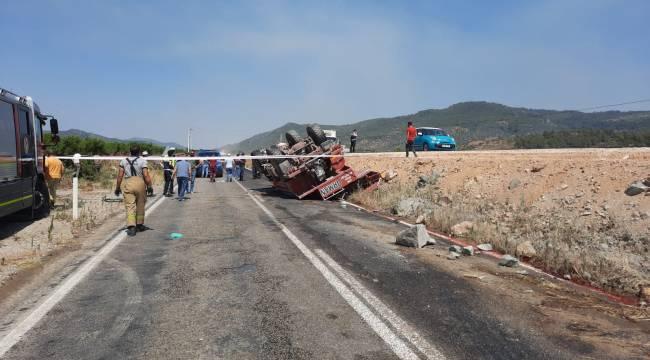 Orman yangınına giden ekip aracı kaza yaptı: 2 şehit, 2 yaralı