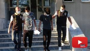 Akrobat hırsızlar önce kameraya sonra polise yakalandı