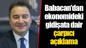 Babacan'dan ekonomideki gidişata dair çarpıcı açıklama