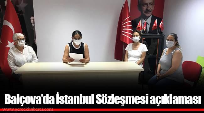 Balçova'da İstanbul Sözleşmesi açıklaması