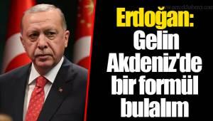 Erdoğan: Gelin Akdeniz'de bir formül bulalım