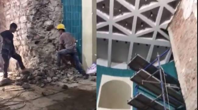 Galata Kulesi'ndeki yıkımın yeni görüntüleri ortaya çıktı