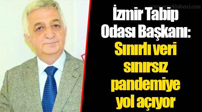 İzmir Tabip Odası Başkanı: Sınırlı veri sınırsız pandemiye yol açıyor