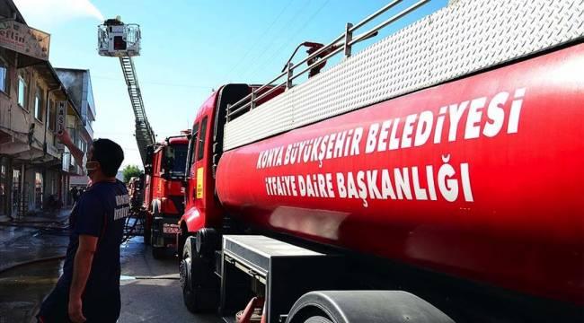 Konya'da doğalgaz patlaması